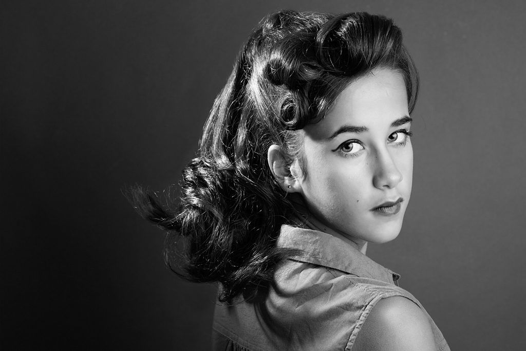 Retrato Blanco y Negro Pin Up